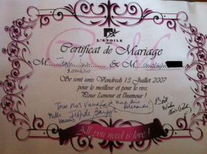 faux contrat de mariage romero