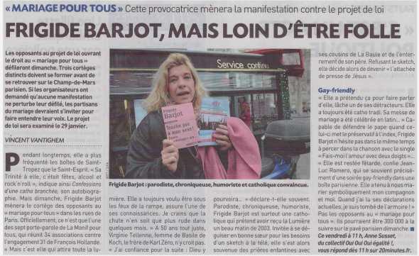 """Portrait dans """"20 minutes"""" - 11 janv 2013"""
