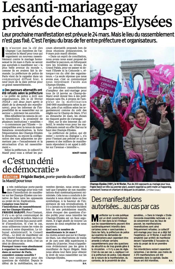 Le Parisien 15 mars 2